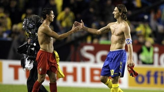 Ronaldo and Ibrahimovic saw each other in the first round.
