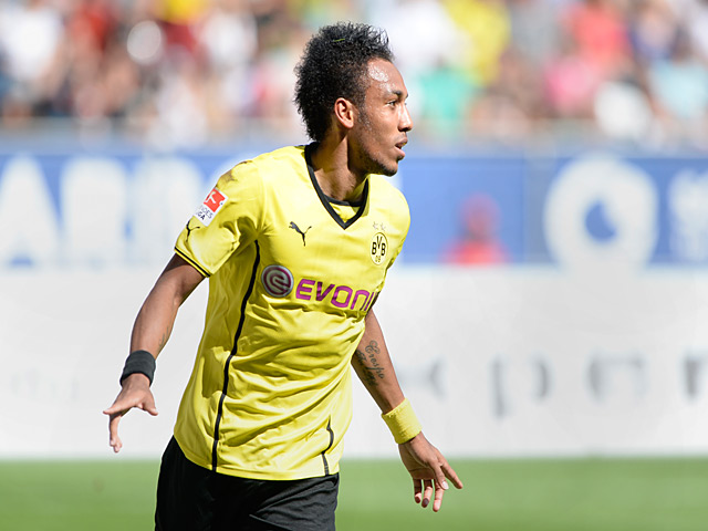 Pierre Emerick Aubameyang is triumphing with Borussia.