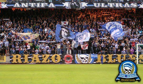 Die Riazor Blues immer sein Team Stamm.