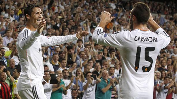 Carvajal intenta hacerse un hueco en el Real Madrid.