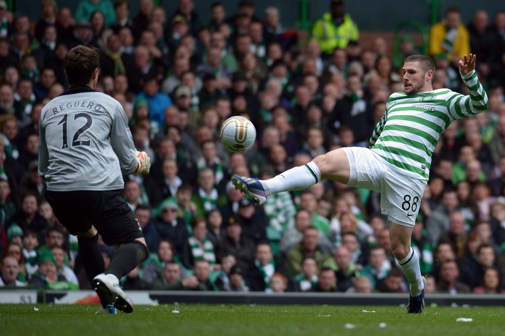 El guardameta español mantuvo su portería a cero frente al Celtic la temporada pasada.