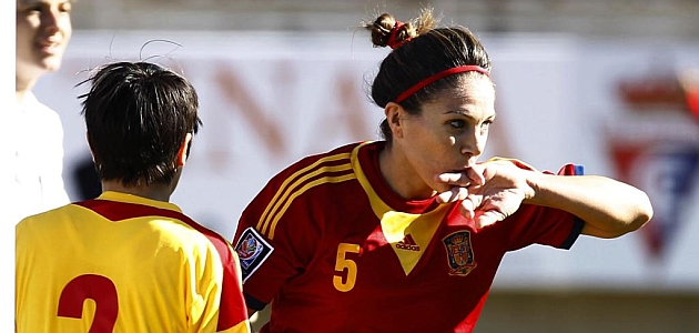 Ruth García marcó el gol de la victoria para España frente Rumanía.