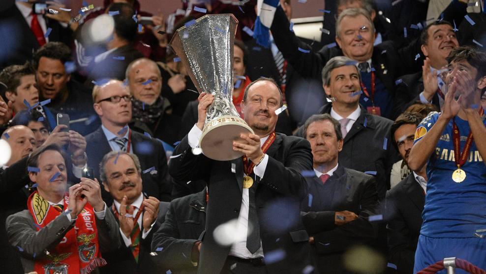 Benitez ganó otro título europeo con el Chelsea.