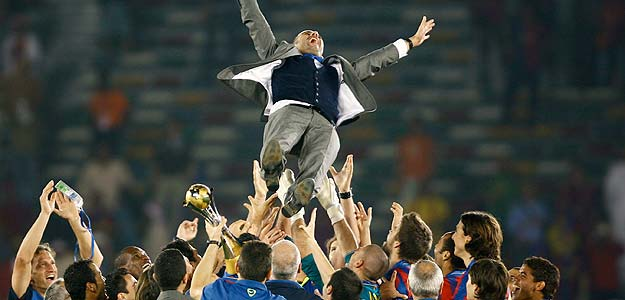 Guardiola and Barcelona made history in 2009 with six titles.