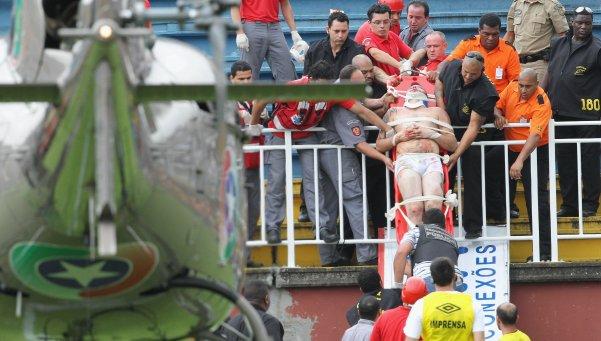 Un muerto provocó los incidentes del Atlético Panaerense-Vasco da Gama.