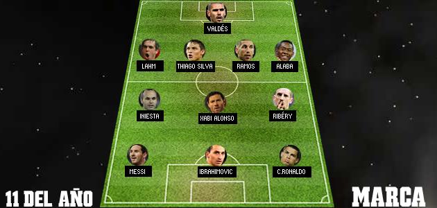 El once de 2013 según el diario español Marca.
