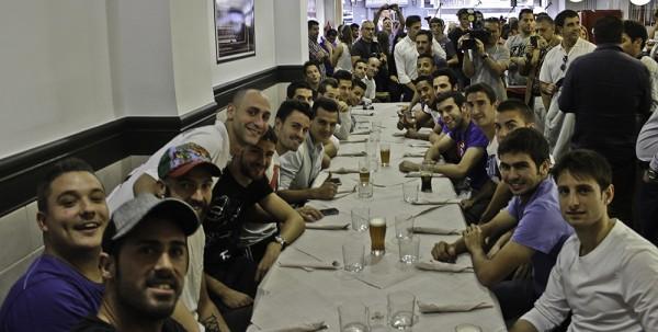 Así celebraron el emparejamiento con el Real Madrid.