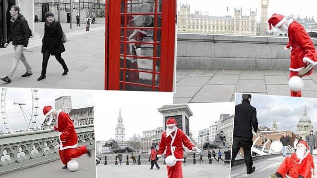 Santa Claus trae fútbol a Inglaterra.