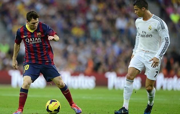 La Liga BBVA española cuenta con las dos mayores estrellas del fútbol actual. Messi y Cristiano.