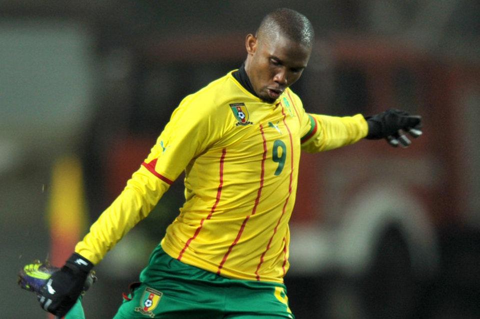 Eto'o's Cameroon star.