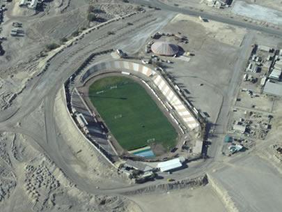 El Estadio El Cobre tiene capacidad para más de 20.000 personas.