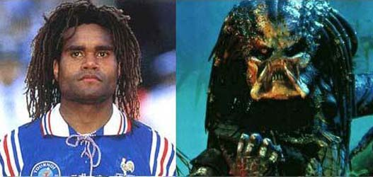 Cristian Karembeu has a cousin on the planet Predator because it seems obvious kinship.