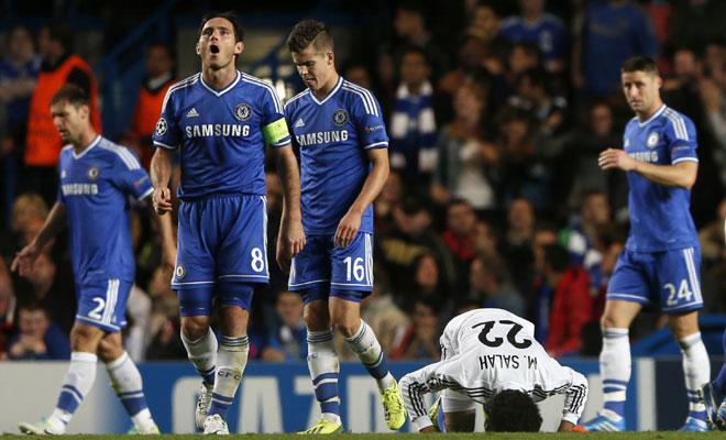 Salah le marcó al Chelsea en los dos partidos de Champions.
