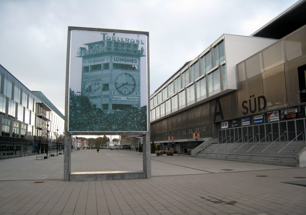 In the current stadium Wankdorf a photograph recalls the Miracle of Bern.