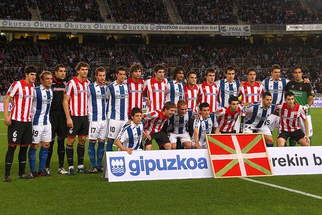 Imagen del último derbi en Anoeta que ganó por 2-0 la Real Sociedad.