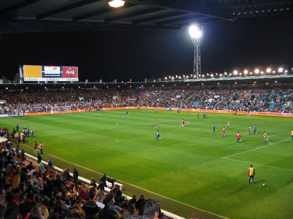El estadio Helmántico de Salamanca es el más ancho de España.