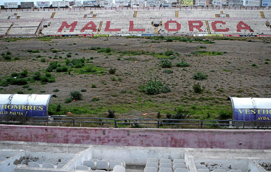 El que fuera campo del Mallorca está abandonado.