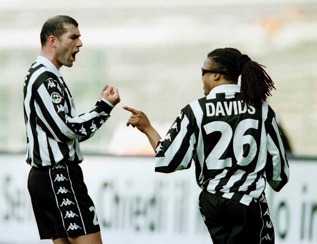 Zidane and Davids shared good times at Juve.