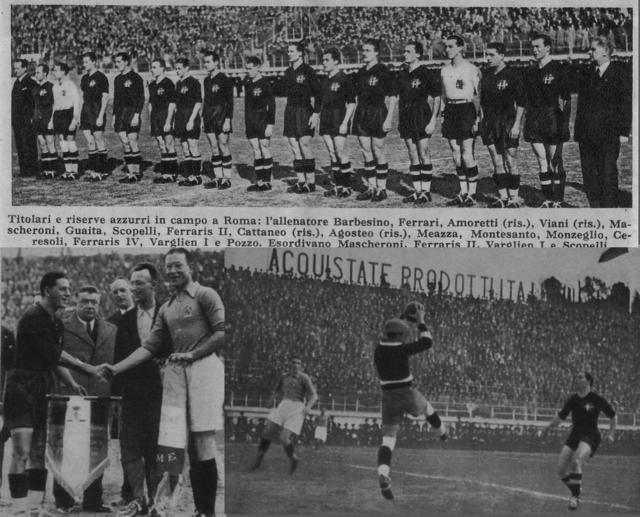 Italia vistió de negro en el Mundial de 1938, que ganó.