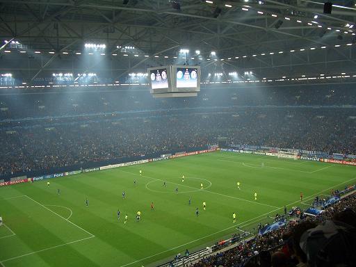El Veltins Arena tiene techo y césped retráctil.