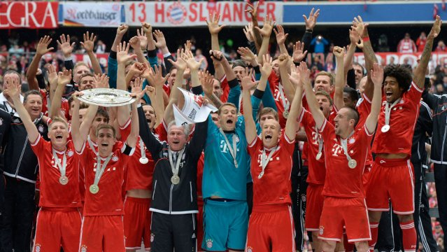 Bayern won the Bundesliga last year with 26 point lead.