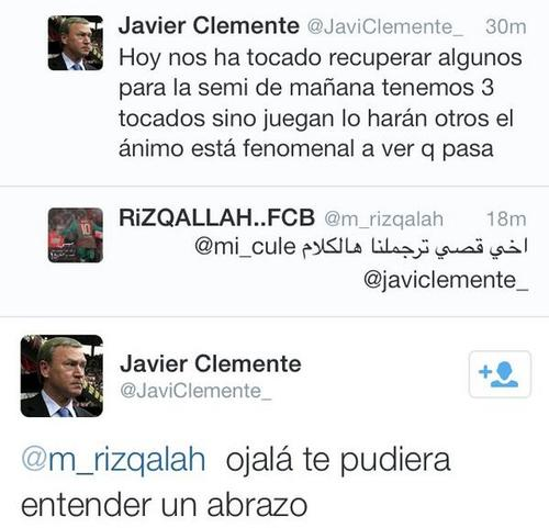 Clemente communicates with fans on Twitter.