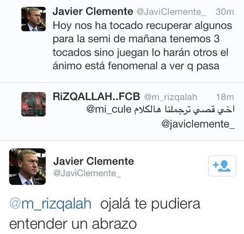 Clemente se comunica con los aficionados en Twitter.