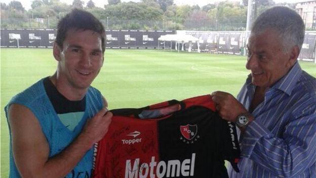 Messi ha dicho que jugará con Newell´s al final de su carrera.