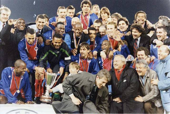 PSG won the Cup Winners Cup 1996 with a great team.