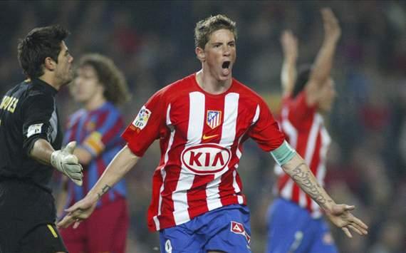 Torres estuvo siete años en el Atlético antes de irse a Liverpool.