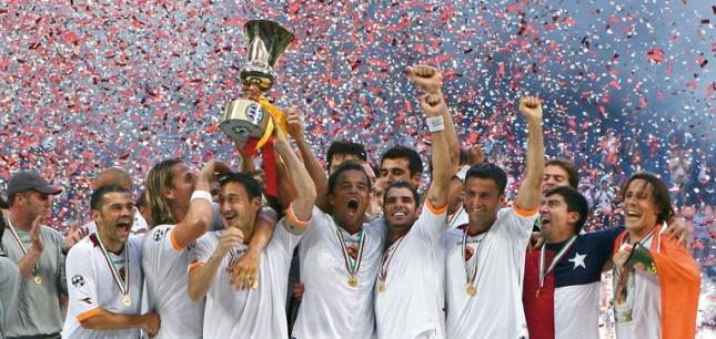 "La Roma ganó su última ""Coppa"" in 2008."