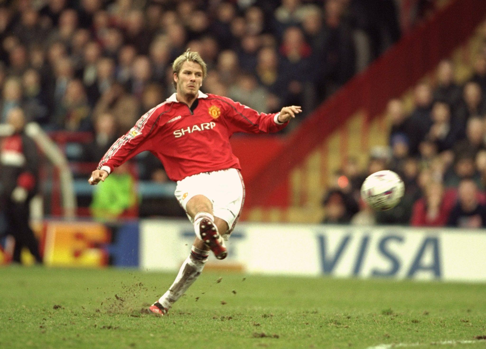 David Beckham mostró sus mejores prestaciones como futbolista en el United.
