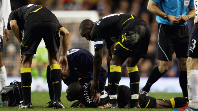 Muamba was 78 died minutes.