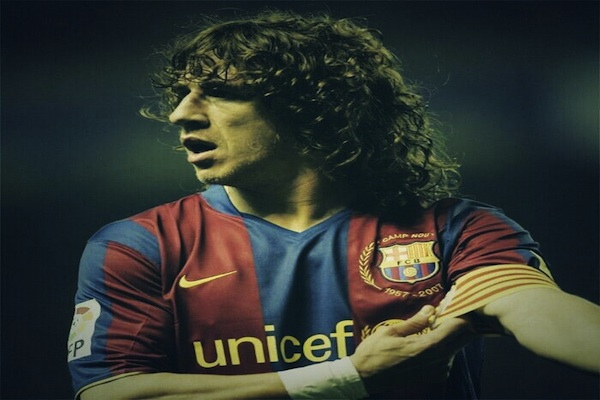 Is Carles Puyol among the top ten plants in history?