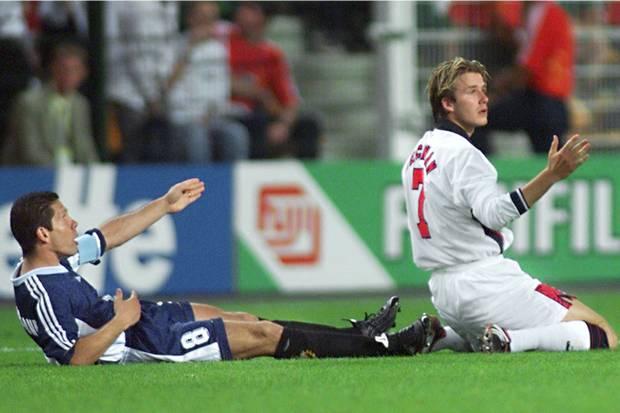Esta accion con el Cholo le costó a Beckham acabar el Mundial 98.