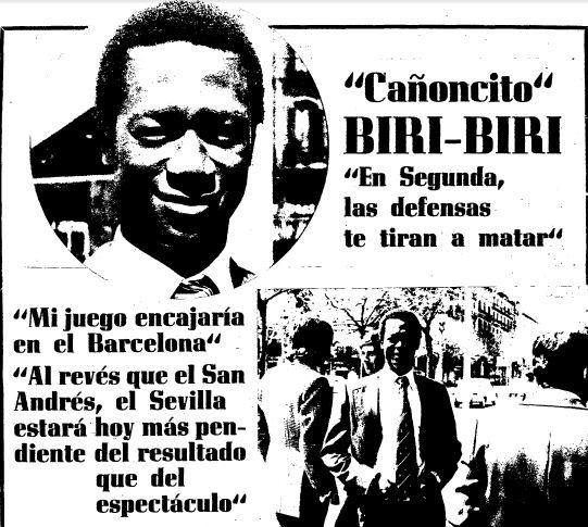 Biri era el Finidi sevillista de los años 70.