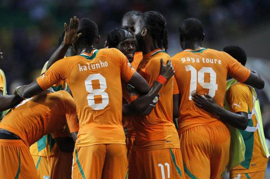 Ivory Coast has players of great physical power.
