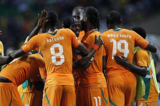 Costa de Marfil tiene jugadores de enorme poderío físico.