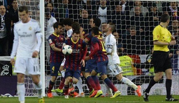 Messi anotó un nuevo hat-trick ante el Real Madrid.