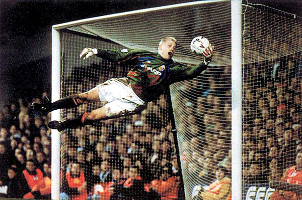 Schmeichel was capable of flying squads.