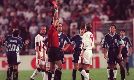 Aquella roja ante Argentina marcó mucho la carrera de Beckham.