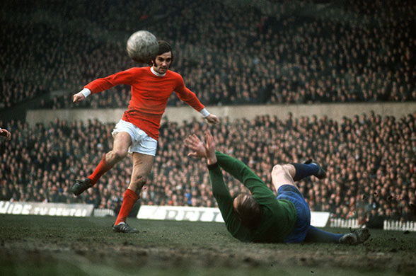 George Best, different inside and outside the field.