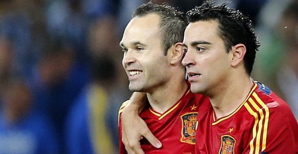 Who are you staying with, Xavi or Iniesta?