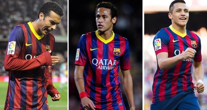 Pedro, Neymar, Alexis, ¿con quién te quedas?