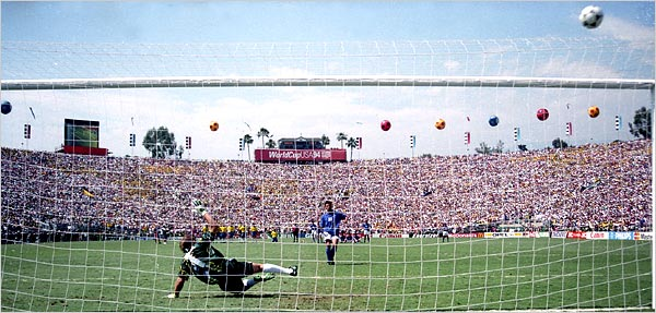 Roberto Baggio missed the decisive penalty against Brazil.