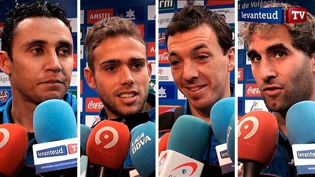 Rubén y Barkero, campeones en Nigeria en 1999 y compañeros en el Levante. Foto: Levanteud.com