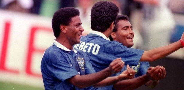 Mazinho, Bebeto and Romario celebrated a goal against the Netherlands the most original.