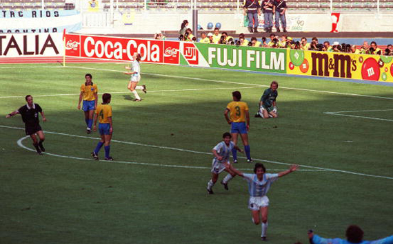 Cannigia's goal gave the victory to the Argentinians on Brazilian.