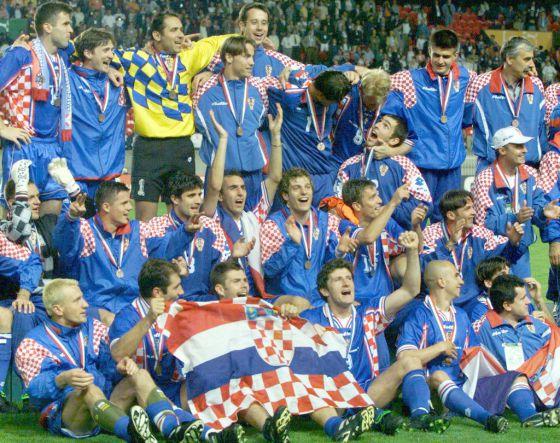 La generación croata que alcanzó el tercer puesto en 1998.