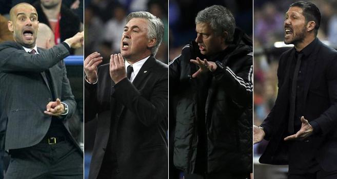Ancelotti, Mourinho, Guardiola and Simeone, Who do you think best?